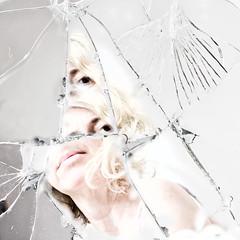 ... shattered ... (jane64pics) Tags: 52weeksof2016 week33 differentangle shattered shatteredglass glass mirror shatteredmirror selfportrait self selfie cracked janefriel janefriel2016 greystonescameraclub gcc