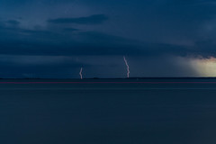 Double Bolt! (Troy A. Snead) Tags: storms lightning rain tybeeislandga