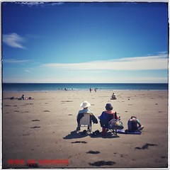 Beach Life #iphone #iphoneography #people #sitting #beach #sea #seaside #summer #blue #sky #white #cloud #laxey #isleofman #loveiom (Viveca Koh FRPS) Tags: iphoneography instagram iphone