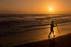 Sunset In Varkala (Kalle Fotografa) Tags: sunset varkala india kerala beach magic hour moment instamoment freedom man walk walking alone 5dm3