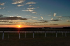 Way out west (smcnally24601) Tags: sun sunset evening autumn sunny red landscape england britain surrey epsom downs