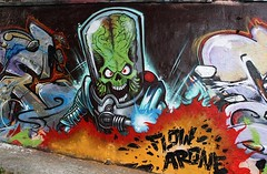 mars attacks (codedtestament777) Tags: mars attacks graffiti art beautiful love life design surreal text bright sign painting writing nature crazy weird fabulous environment cartoon animation outdoor street photo border photoborder illustration collection portrait face expression character