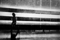 . (robbie ...) Tags: lady walking silhouette black white abstract stripes melbourne victoria australia fujifilm fuji xt10 monochrome