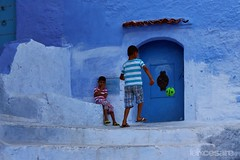 Moroccan Kids playing in the streets of Chefchaouen. (Photographing_The_World) Tags: morocco marokk travel travelphotography arabic africa muslimcountry culture wanderlust explore people northafrica moroccan moroccanculture moroccancolors moroccancolours moroccanpeople africanpeople discovermorocco exploremorocco marrakesh marrakech fes fez agadir asilah essaouira merzouga sahara maroc chefchaouen colors travelphotos arabicculture arabicpeople travelblog muslimpeople muslimculture diversity multicultural locals locallife moroccanlifestyle moroccanlife kidsplaying streetfootball shades blueshades shadesofblue