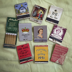 Matchbook collection - 1950s 1 reverse (NettyA) Tags: appleiphone6 australia matchboxcollection matchboxes matchbooks collection indooroopilly queensland au collecting old vintage 1950s queenelizabeth coronation 1953 commemorative