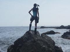 Shooting Lara Croft - Calanque du Mont Salva - Six Fours les Plages - 2016-08-11- P1500430 (styeb) Tags: shoot shooting lara croft 2016 aout 11 calanque mont salva sixfourslesplages t