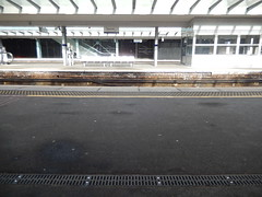 Haymarket platform 3 from platform 4, 2016 Sep 17 (Dunnock_D) Tags: uk unitedkingdom britain scotland station platform haymarket railway