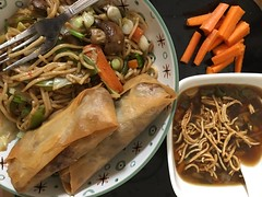 Bring China home (balusss) Tags: vegetable springrolls crispy noodle minestronesoup chowmein spicy