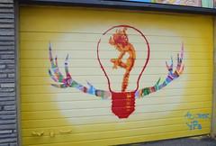 Horny lightbulb (svennevenn) Tags: horn horns lightbulbs lysprer graffiti gatekunst streetart stavanger