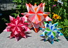Bascetta stars (o0o0oecho0o0o) Tags: origami unit unitorigami modularorigami modular bascetta star stars paper craft folding diy decor ornament spiky spiked 30units colorful bright