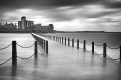 Eye of the storm (Collingwood505) Tags: knightstone harbour westonsupermare storm 10stopfilter water silky sky monochrome blackwhite blackandwhite clouds causeway outdoor somerset