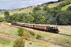 Coal Tank On The Pullmans (3) (neilh156) Tags: steam railway 1054 haworthtopfield haworth keighleyworthvalleyrailway kwvr coaltank tankengine lnwr 062t pullmancoaches pullman privatetrain