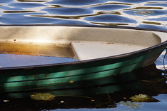 Våt båt (tusenord) Tags: fotosondag fs160904 vatttorrt eka vattenfylld boat båt vatten sjunken sunk outdoor water lake