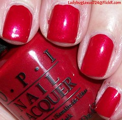 OPI Innie Minnie Mighty Bow (ladybuglexus724) Tags: purple nail polish lacquer pink red holographic opi orly china glaze revlon finger paints