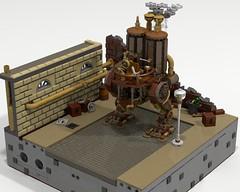 Steam stepway diorama (funnyjelly_its_me) Tags: lego walker stepway steampunk
