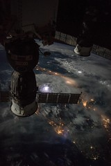 Moon, Thunderstorms Illuminate Beautiful Night Scene from ISS (NASA's Marshall Space Flight Center) Tags: nasa nasas marshall space flight center international station iss