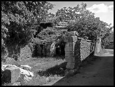 LINDAR . ISTRIA . CROATIA (LitterART) Tags: istrien istria kroatien croatia nikonp330 nikon monochrome abandoned abbandono places secret wonderful atmospheric lindaro mood mauer wall decay beautiful village ort hamlet