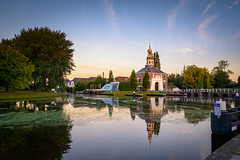 Discover Leiden (martijnvdnat) Tags: leiden canal city gate morning reflection tourism travel zijlpoort zuidholland nederland