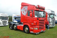 Scania R420 'Mark Thorpe Haulage' reg NJ58 HJE (erfmike51) Tags: scaniar420 artic truck lorry markthorpehaulage swedefest2016