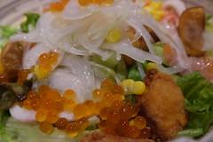 (HAMACHI!) Tags: tokyo bbq 2016 japan food  zenibakobbq hokkaido ginza shinbashi charcoalgrill dinner pub seafood  salad seafoodsalad fujifilmx70 fujifilmx x70