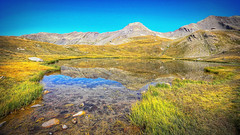 Outdoor (Bruno MATHIOT) Tags: alpes alps france french randonne vert green reflets reflection hdr tonemapping outdoor extrieur montagne mountains wideangle wide color couleur 760d 1020mm