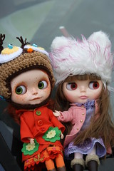 Country drive with the dolls. Hats by my friend SewTown!