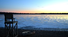 Quiet Winter Evening (jennifer.falls) Tags: sunset lake snow ice beach minnesota landscapes boat sand lakes minneapolis lakeharriet dailynaturetnc12
