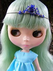 Rade modeling my newest tiara creation :)