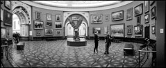 Lucifer's Realm (*monz*) Tags: blackandwhite bw panorama sculpture art film statue museum angel lucifer birmingham gallery iso400 room jacob trix paintings 11 panoramic round satan devil widelux swinglens f28 9m brum 20c preraphaelite epstein xtol f7 26mm monz iblis panon