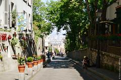 Summer in Montmartre (Paris in Four Months) Tags: road street summer paris france montmartre 75018 18tharrondissement