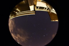 Starry Night (alyrees) Tags: houses windows light sky cloud house fish black eye window night clouds dark circle lens stars star time space fisheye planets