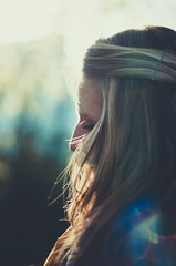 (Kaat dg) Tags: autumn light portrait fall nature girl hair 50mm nikon bokeh flare nikkor d5100