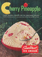 1960 sealtest cherry pineapple Ice Cream (1950sUnlimited) Tags: food design desserts icecream 1950s packaging snacks 1960s dairy midcentury snackfood sealtest