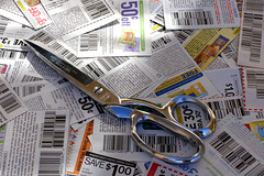 Clipped Coupons With Scissors 3