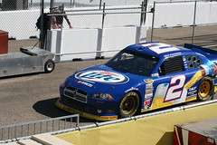 Keselowski Get's A NASCAR (Aaron's Lucky Dog) Pass