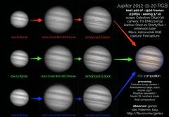 How does a planetary RGB image come out? (gerlos) Tags: bw color howto processing astrofotografia planet planets astronomy jupiter astronomia tutorial astronomie pianeti giove astrofili