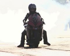 (lilmike n laurie (laurie kowalski)) Tags: lady female georgia drag yahoo google valdosta florida witch images racing motorcycle suzuki laurie puma broom bradenton grudge kowalski elvira wiccan shoei gsxr1000 lilmike elviramotorcycle