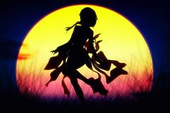 キミソラキセキ (Ateens Chen) Tags: sunset silhouette nikon ateens d800 goodsmilecompany nikonafsnikkor2470mmf28ged 18scalefigure 石長櫻子 guiltycrown inoriyuzuriha