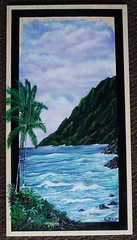 windward coast 004 (aldenart58) Tags: seascape painting hawaii acrylic tropical airbrush airbrushart windwardcoast tropicalpainting hawaainart