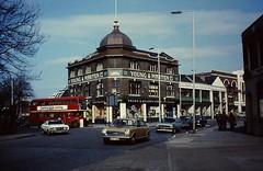 LONDON 1979 March pic22 (streamer020nl) Tags: uk england bus london gb 1979 1000 stratford doubledecker londen eastlondon fordfiesta romfordroad youngmartenltd