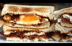 Saturday_N_Sunday Mornings (seegarysphotos) Tags: food breakfast bacon yummy weekend toast plate hungry brownsauce egges seegarysphotos