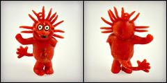 Imperial rubber spiky red creature (LittleWeirdos) Tags: spiky imperial rubbertoy rubbermonster redfigure jiggler vendingmachinetoy rubberfigure imperialtoys rubbercreature sunmonster imperialtoy suncreature vendingmachineprize