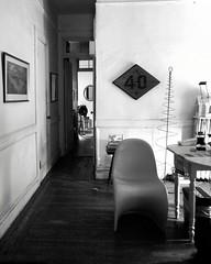 railroad (omoo) Tags: newyorkcity railroad bw apartment westvillage diningroom cattoy greenwichvillage railroadapartment 40mph bwphotograph dscn0047 railroadspeedsign