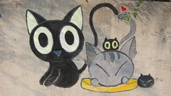 Cats (MFinChina) Tags: china cats students wall painting shanghai chococat minhang jiaotonguniversity