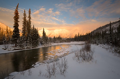 Winter's Embrace (kdee64) Tags: november lastlight coastmountains northerncanada wheatonriver wheatonvalley yukonwinter