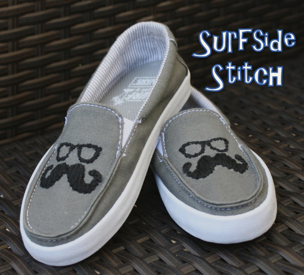 7d3b69291895a0 Custom Mustache Vans (hpolanco) Tags  sunglasses shoes stitch embroidery  movember needlepoint stitches vans