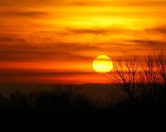 Warm December Sunset (LaLa83) Tags: autumn sunset ohio orange evening december dusk sony alpha 2012 a230 fairfieldcounty ruralohio stoutsville ohiofoothills