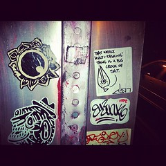(croissantthief) Tags: seattle streetart graffiti stickerart graf stickers meow slap blink ack gravey slaps slaptag trud seattlegraffiti stickerporn