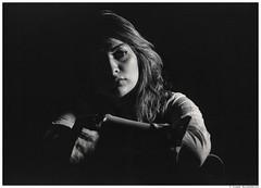 Eli 3 (San Panteno) Tags: portrait bw girl mediumformat negative fortepan400 mamiyarz67