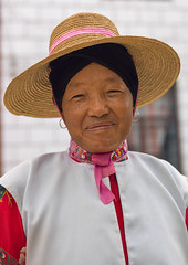 Mongolian Minority Woman, Tong Hai, Yunnan Province, China (Eric Lafforgue) Tags: china people color colour smile hat vertical person photography clothing asia womenonly  yunnan kina chin cina adultsonly oneperson chine traditionaldress onepeople xina frontview traditionalculture  mongolian eastasia  moghul tonghai senioradult traditionalclothing realpeople tiongkok  chiny  kna in onewomanonly lookingatcamera colorpicture waistup yunnanprovince 1people   trungquc na   kitajska tsina       mongolianethnicity a0006842